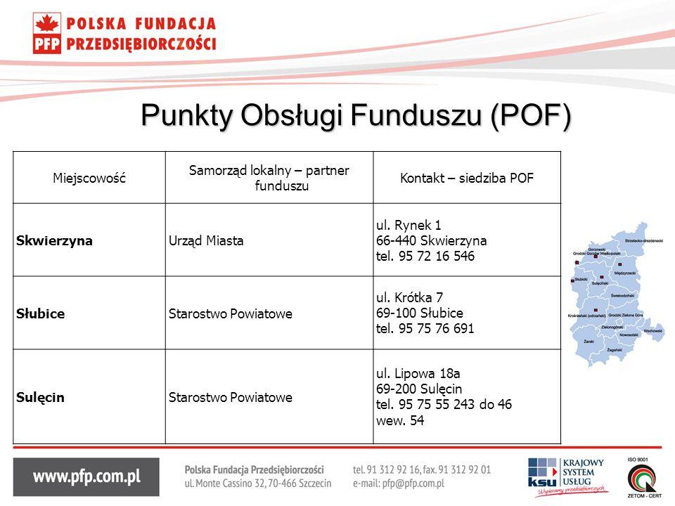 Punkty Obsługi Funduszu (POF)