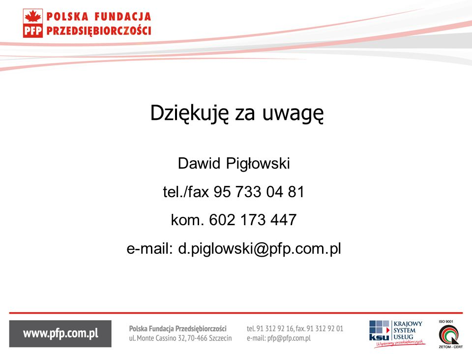 e-mail: d.piglowski@pfp.com.pl