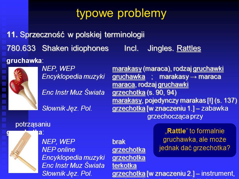 typowe problemy 11. Sprzeczność w polskiej terminologii