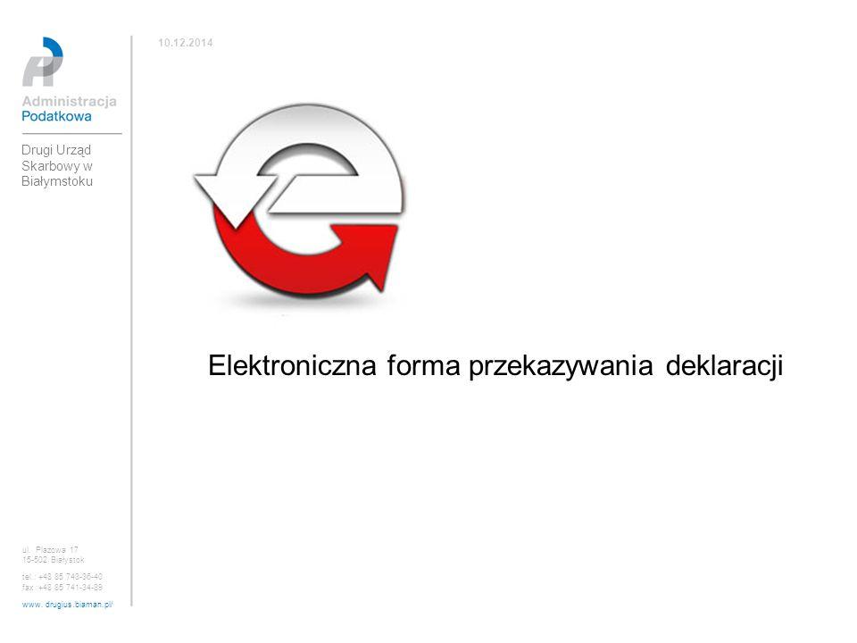 Elektroniczna forma przekazywania deklaracji