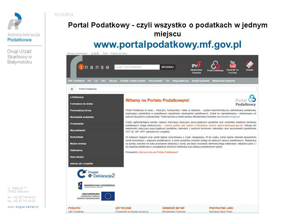 Portal Podatkowy - czyli wszystko o podatkach w jednym miejscu
