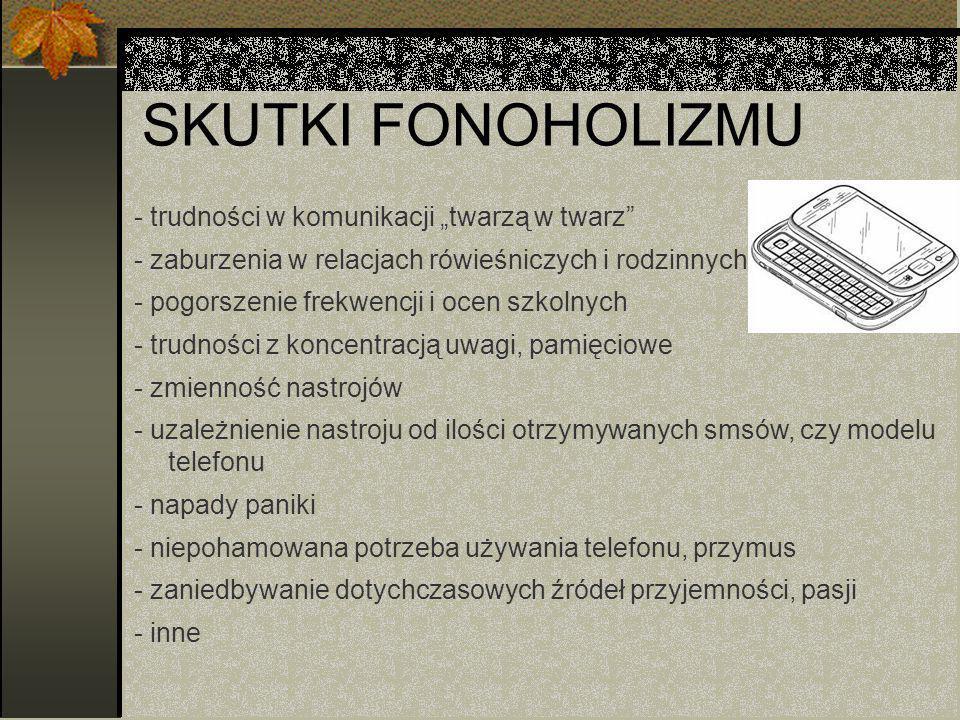 """SKUTKI FONOHOLIZMU - trudności w komunikacji """"twarzą w twarz"""