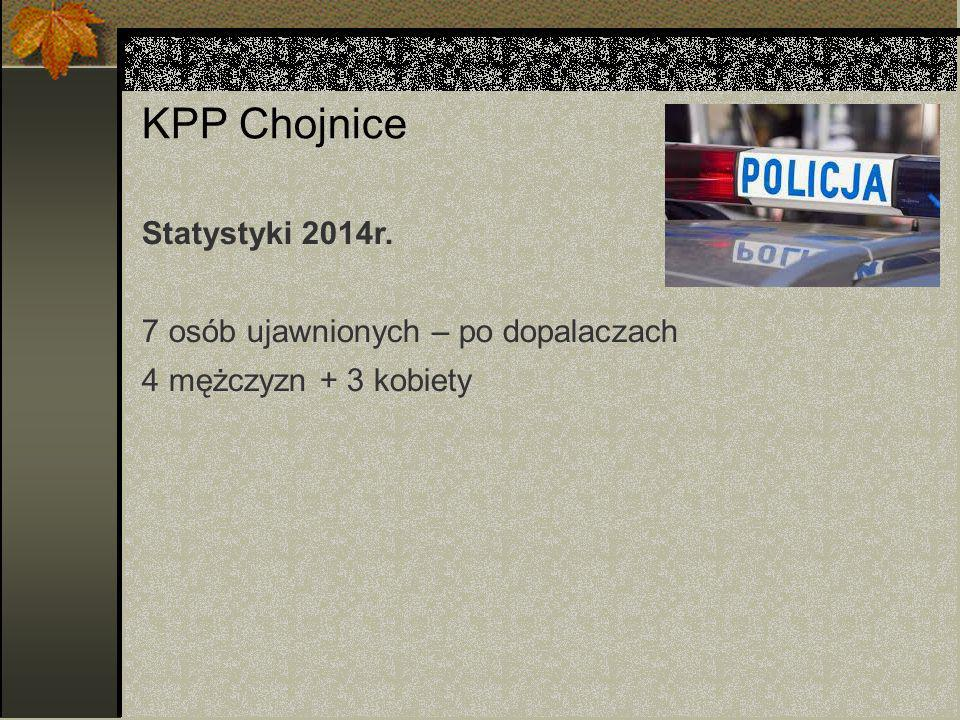 KPP Chojnice Statystyki 2014r. 7 osób ujawnionych – po dopalaczach