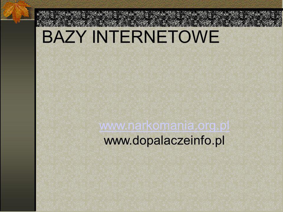 www.narkomania.org.pl www.dopalaczeinfo.pl