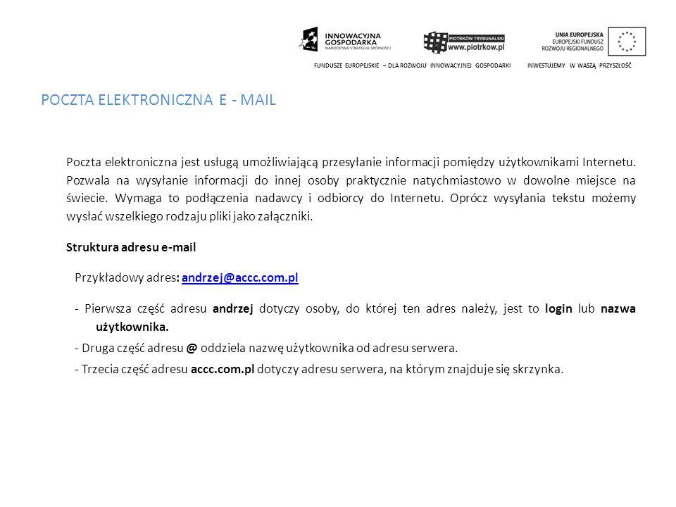 POCZTA ELEKTRONICZNA E - MAIL