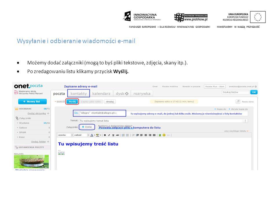 Wysyłanie i odbieranie wiadomości e-mail