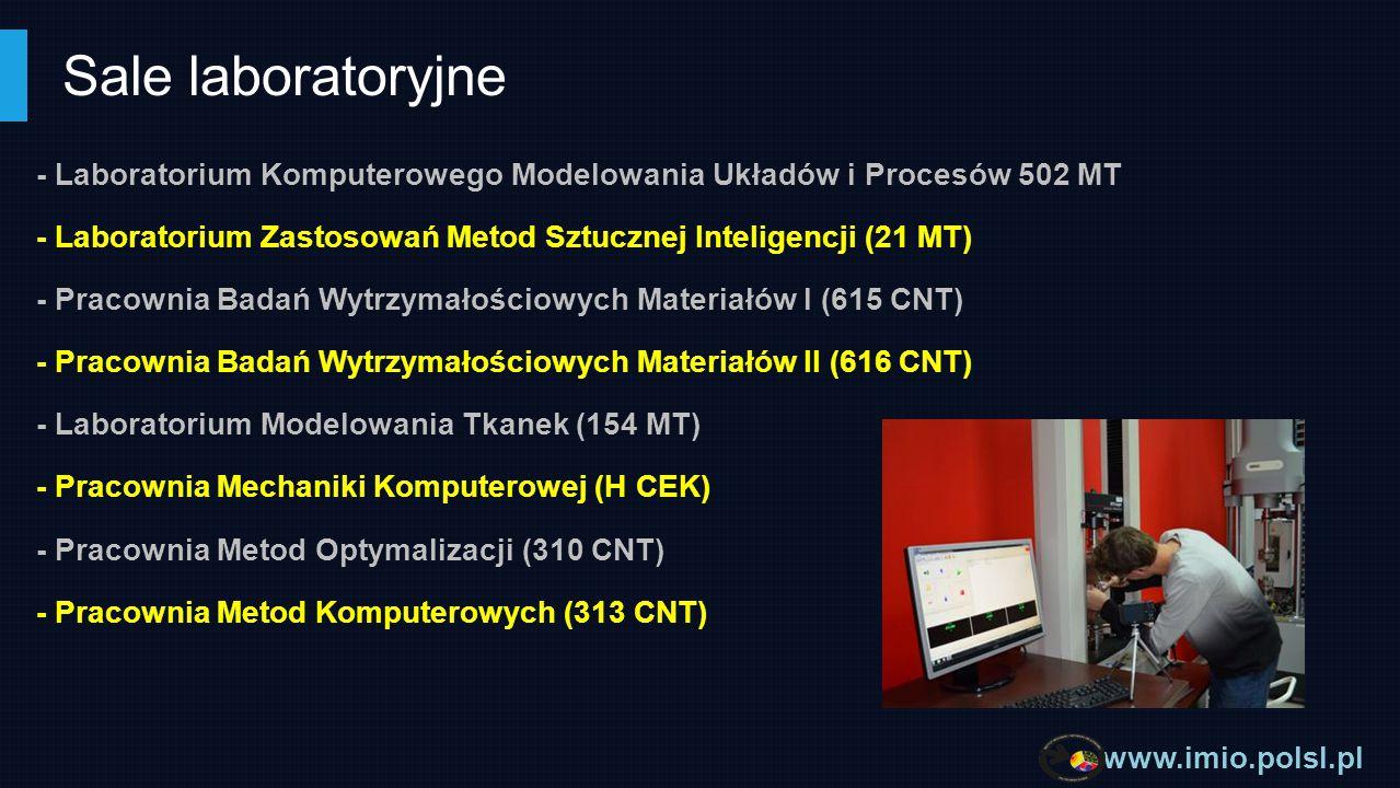 Sale laboratoryjne - Laboratorium Komputerowego Modelowania Układów i Procesów 502 MT.