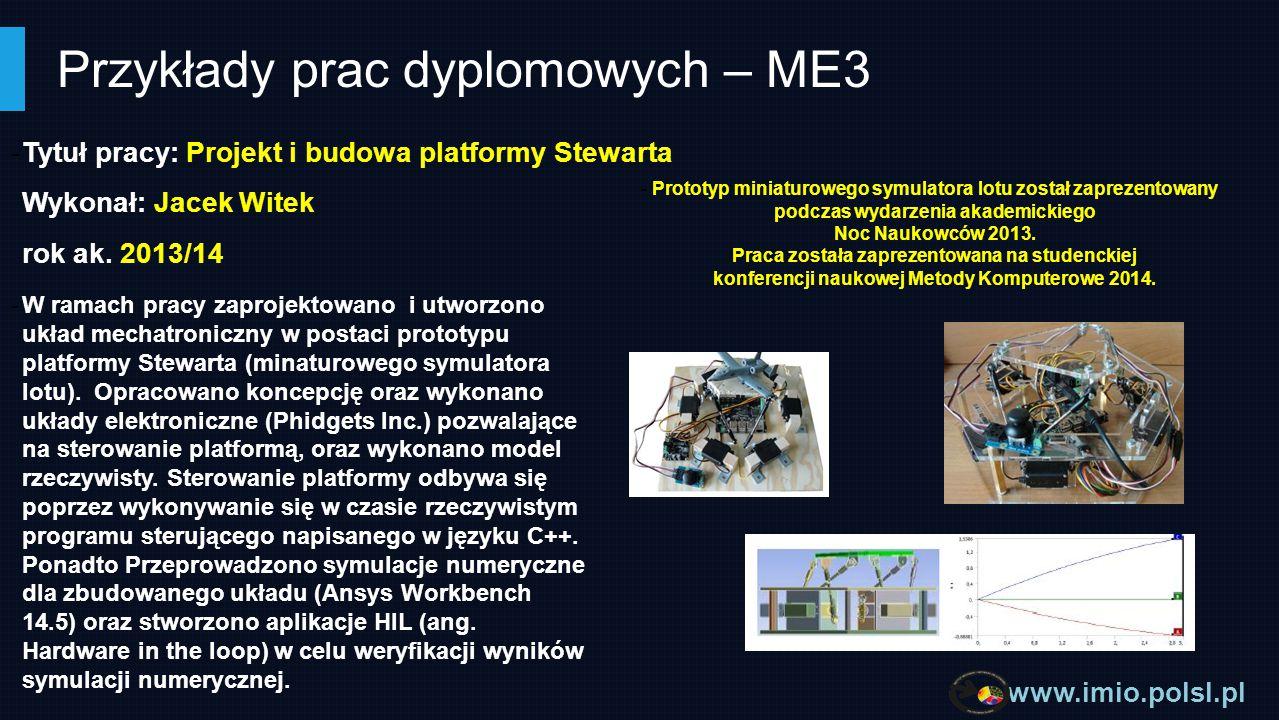 Przykłady prac dyplomowych – ME3