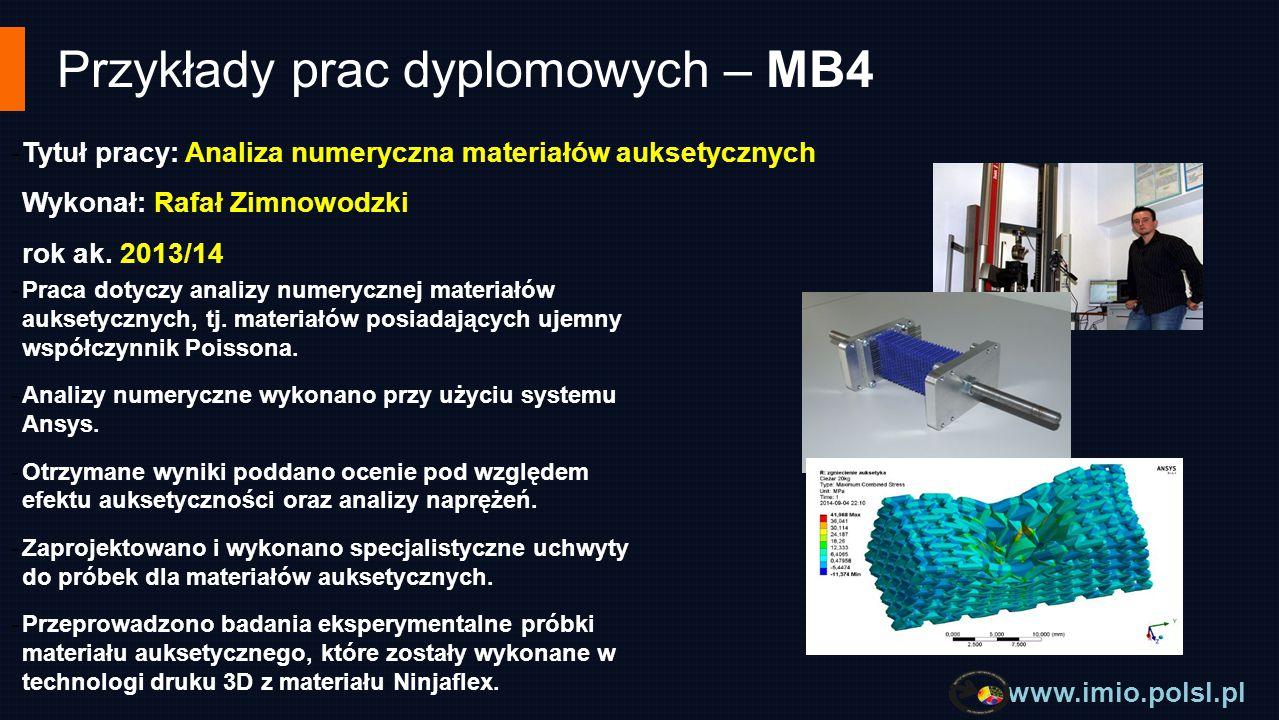 Przykłady prac dyplomowych – MB4