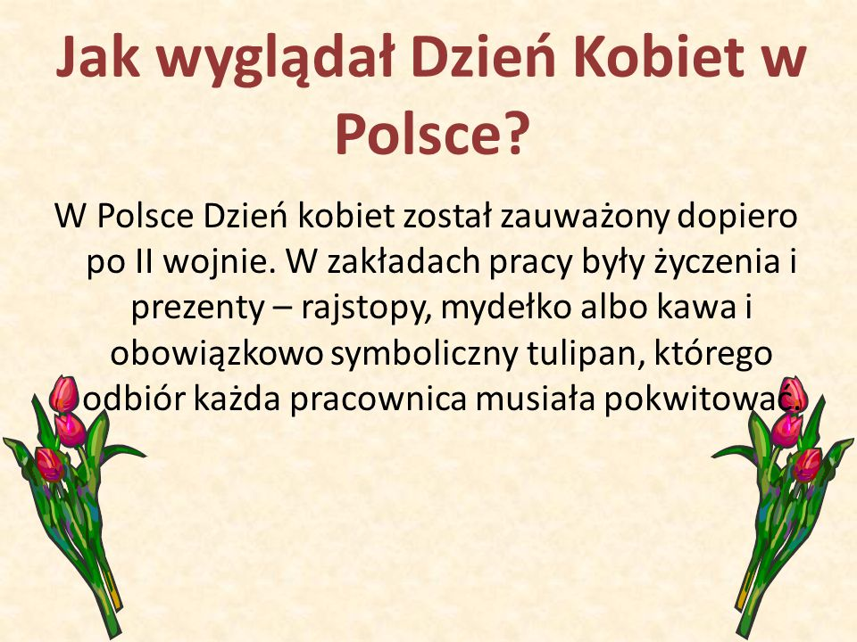 Jak wyglądał Dzień Kobiet w Polsce