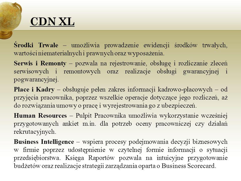 CDN XL Środki Trwałe – umożliwia prowadzenie ewidencji środków trwałych, wartości niematerialnych i prawnych oraz wyposażenia.