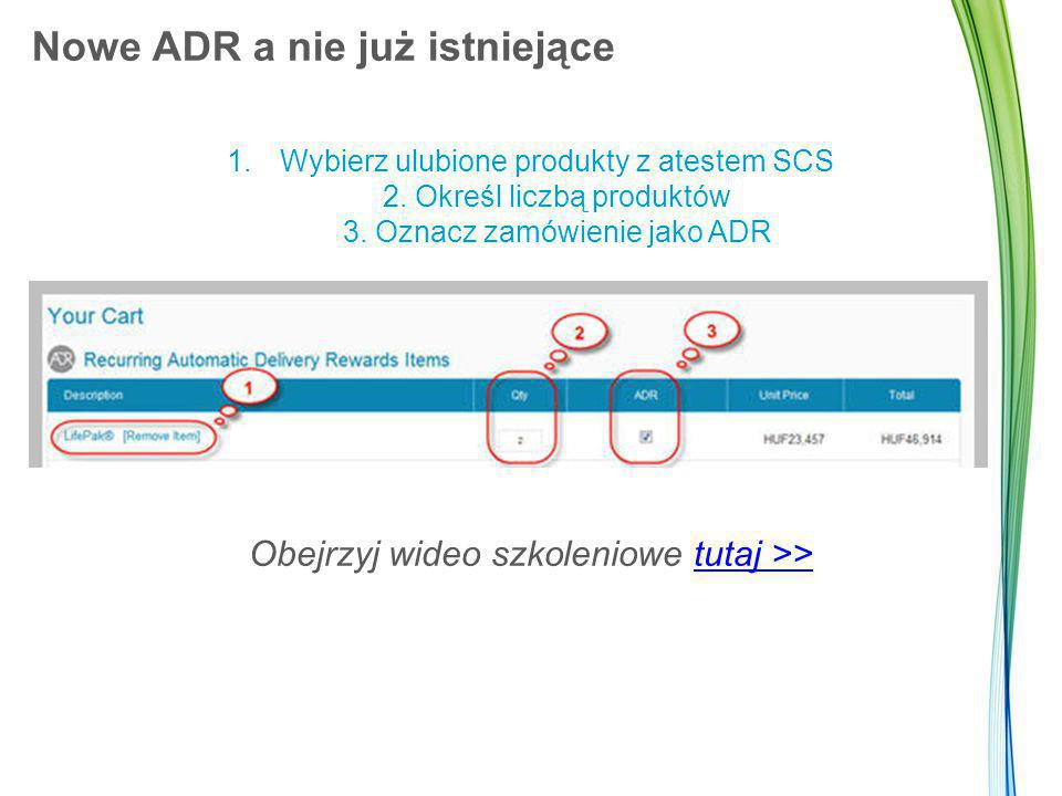 Nowe ADR a nie już istniejące