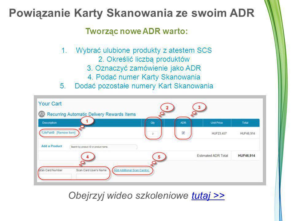Powiązanie Karty Skanowania ze swoim ADR