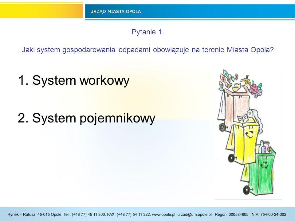 1. System workowy 2. System pojemnikowy