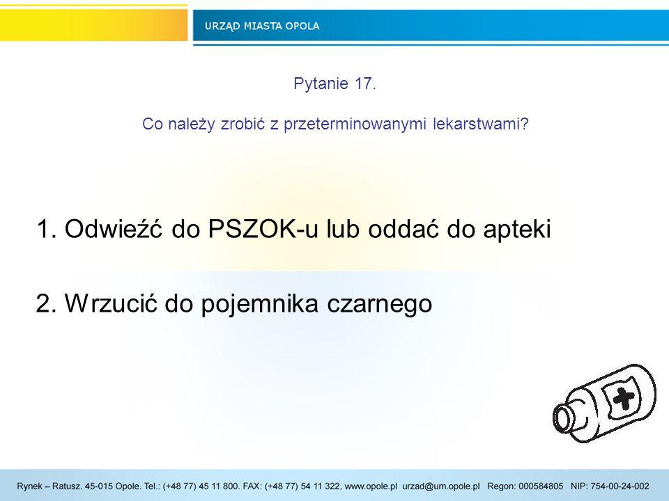 Pytanie 17. Co należy zrobić z przeterminowanymi lekarstwami