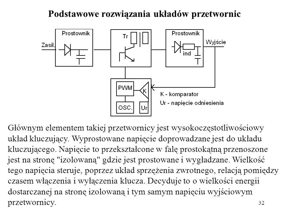 Podstawowe rozwiązania układów przetwornic