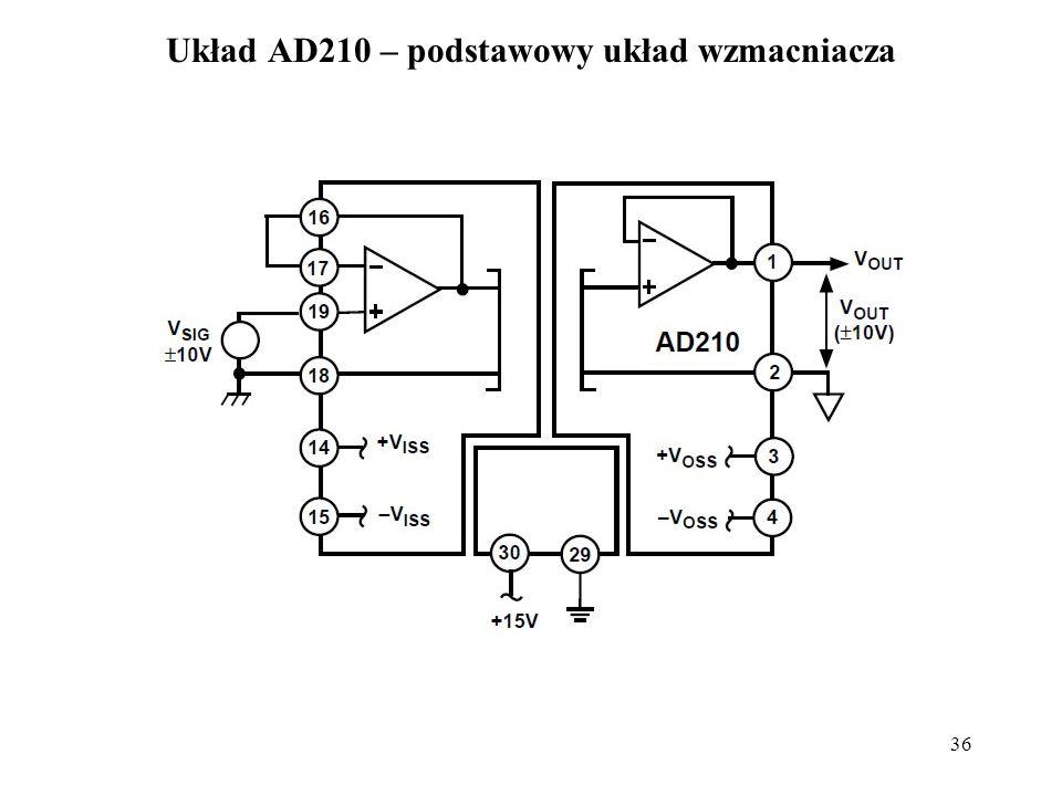 Układ AD210 – podstawowy układ wzmacniacza