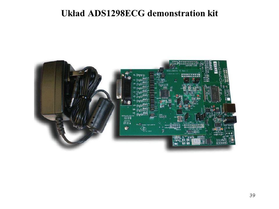 Układ ADS1298ECG demonstration kit