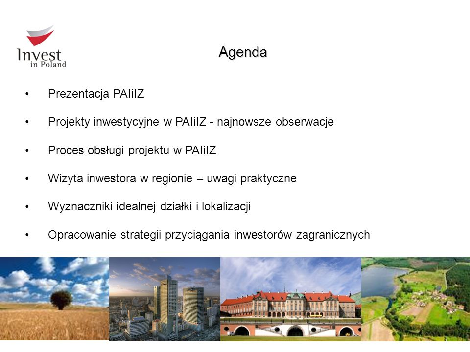 Agenda Prezentacja PAIiIZ