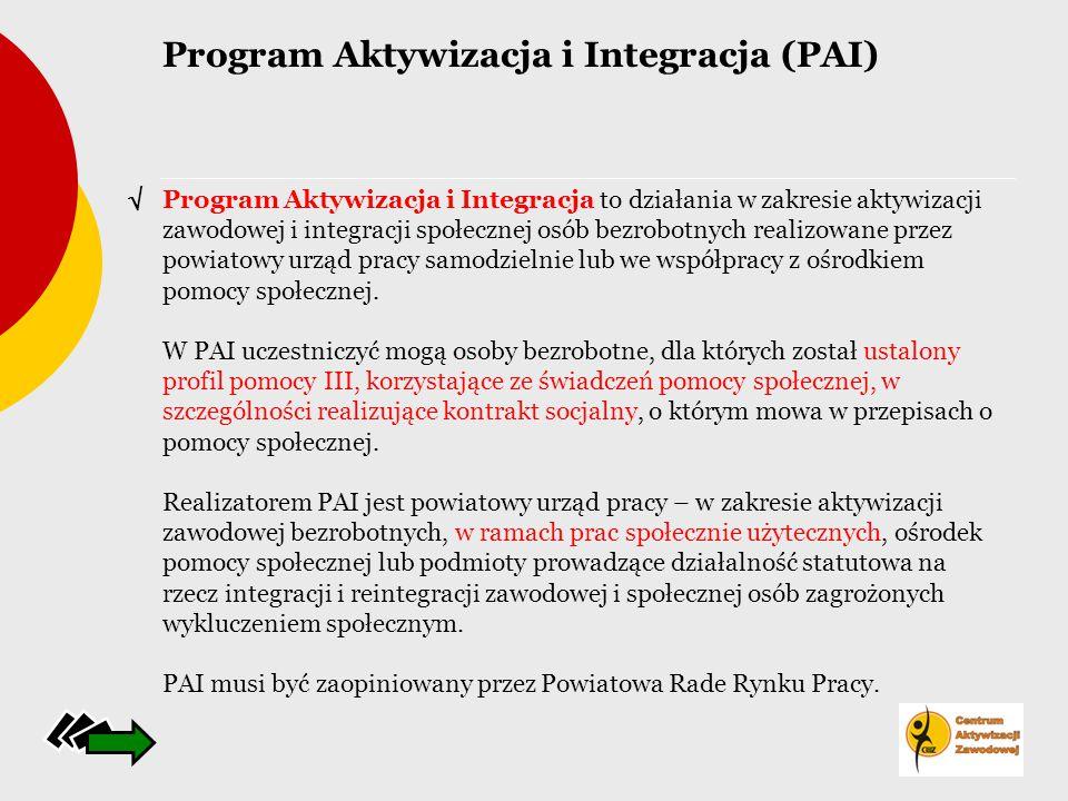 Program Aktywizacja i Integracja (PAI)
