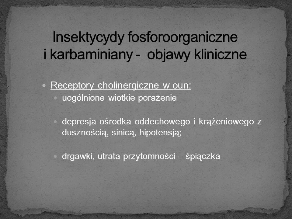 Insektycydy fosforoorganiczne i karbaminiany - objawy kliniczne