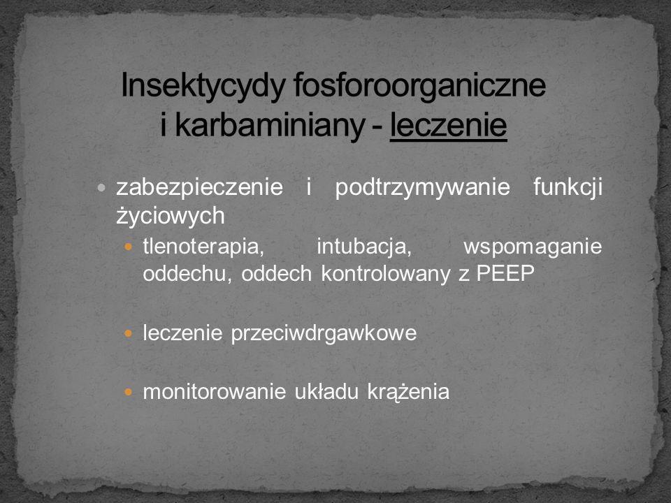 Insektycydy fosforoorganiczne i karbaminiany - leczenie