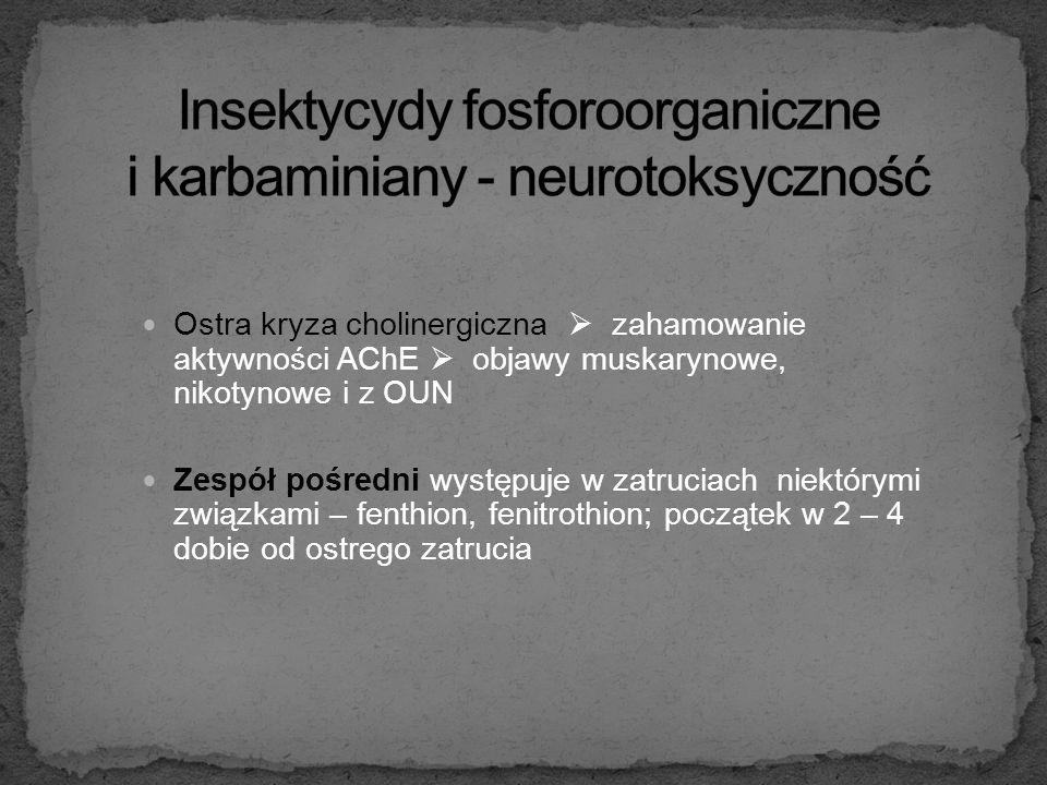 Insektycydy fosforoorganiczne i karbaminiany - neurotoksyczność