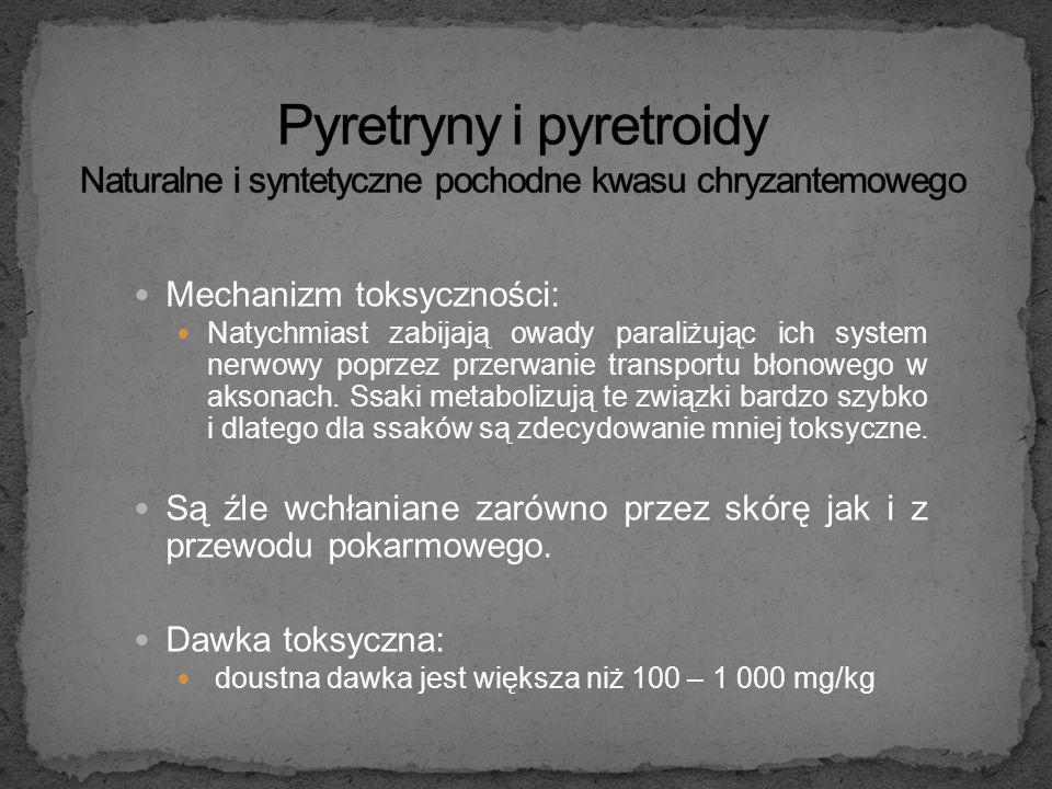 Pyretryny i pyretroidy Naturalne i syntetyczne pochodne kwasu chryzantemowego