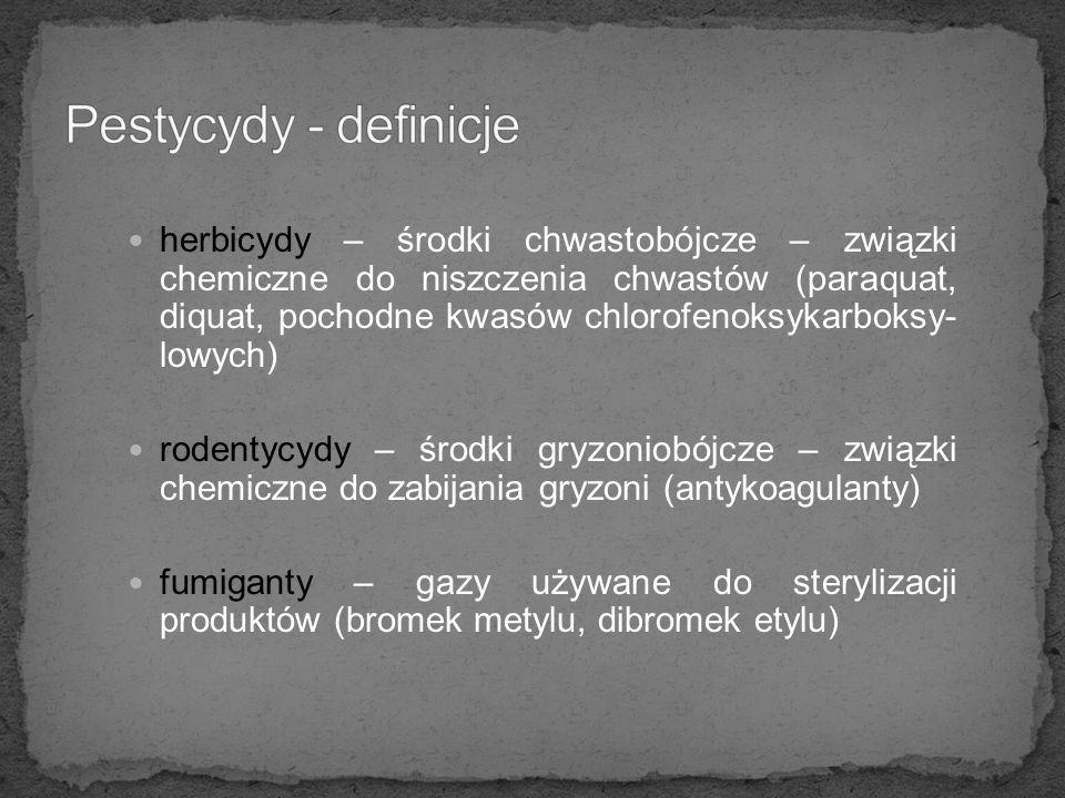 Pestycydy - definicje