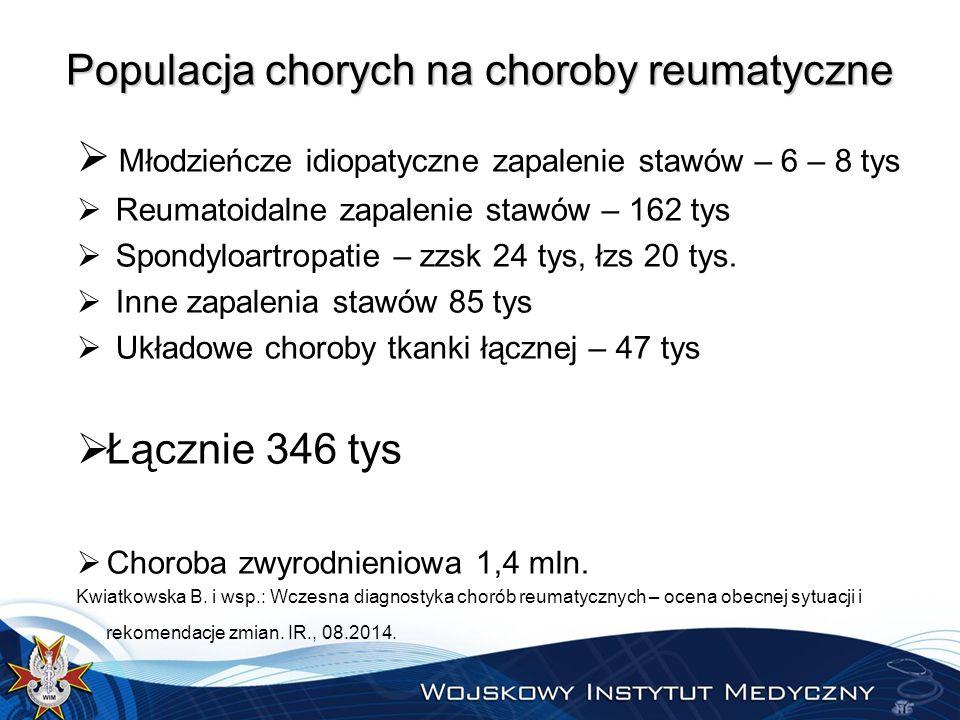 Populacja chorych na choroby reumatyczne