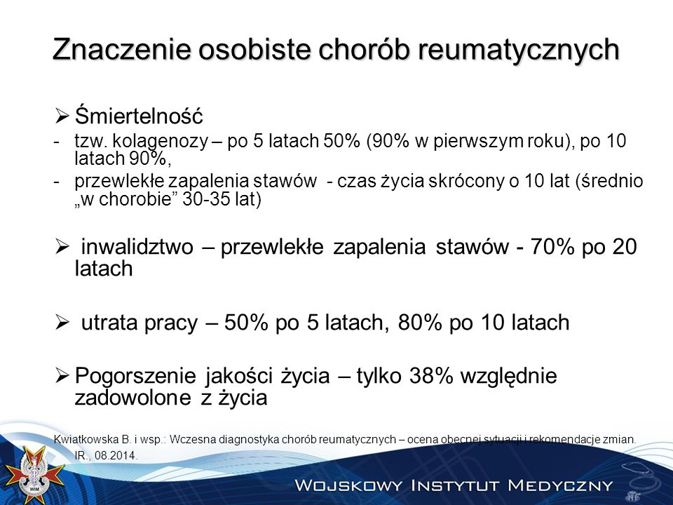 Znaczenie osobiste chorób reumatycznych