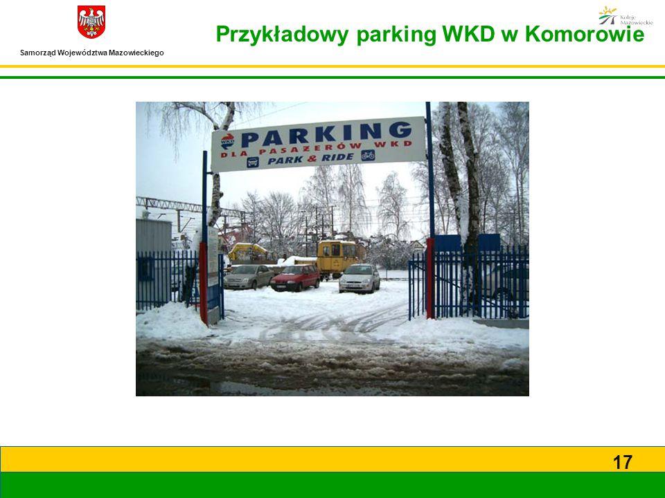 Przykładowy parking WKD w Komorowie