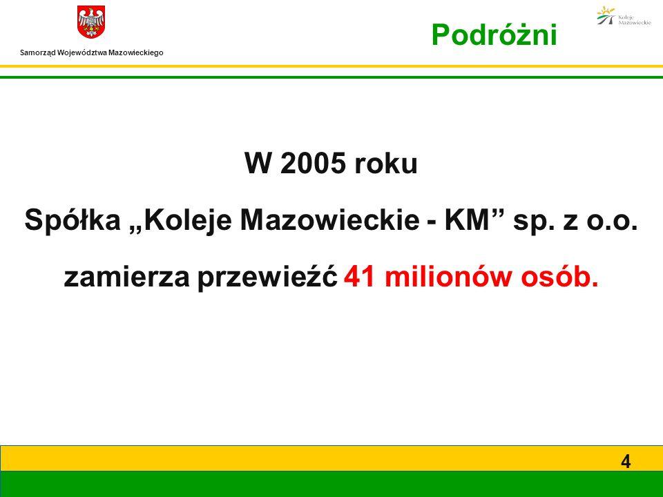 """Spółka """"Koleje Mazowieckie - KM sp. z o.o."""