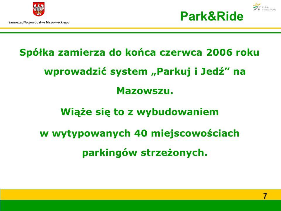 """Park&Ride Spółka zamierza do końca czerwca 2006 roku wprowadzić system """"Parkuj i Jedź na Mazowszu."""