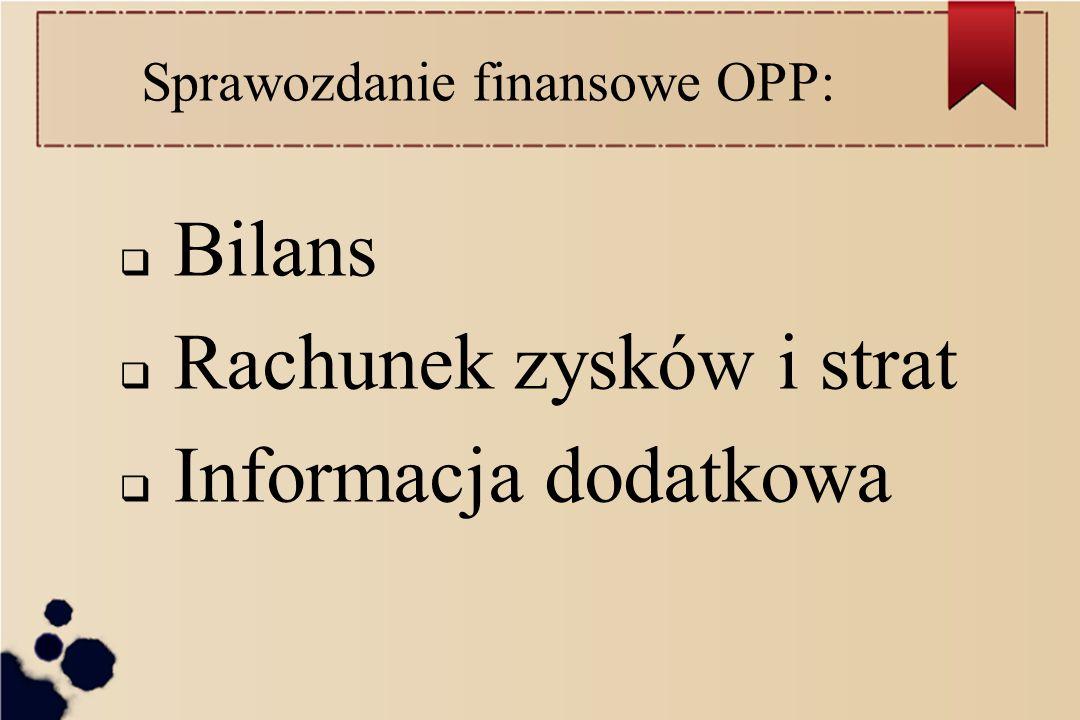 Sprawozdanie finansowe OPP: