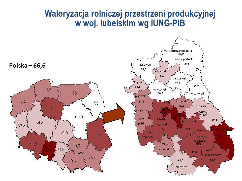 Waloryzacja rolniczej przestrzeni produkcyjnej w woj