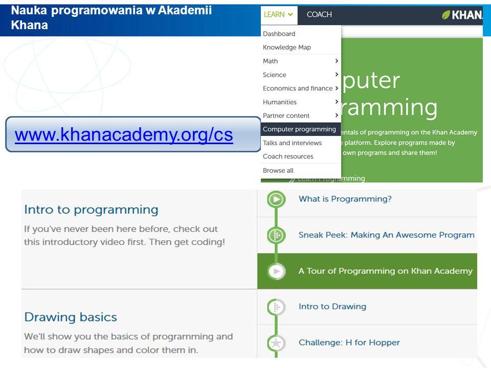 Nauka programowania w Akademii Khana