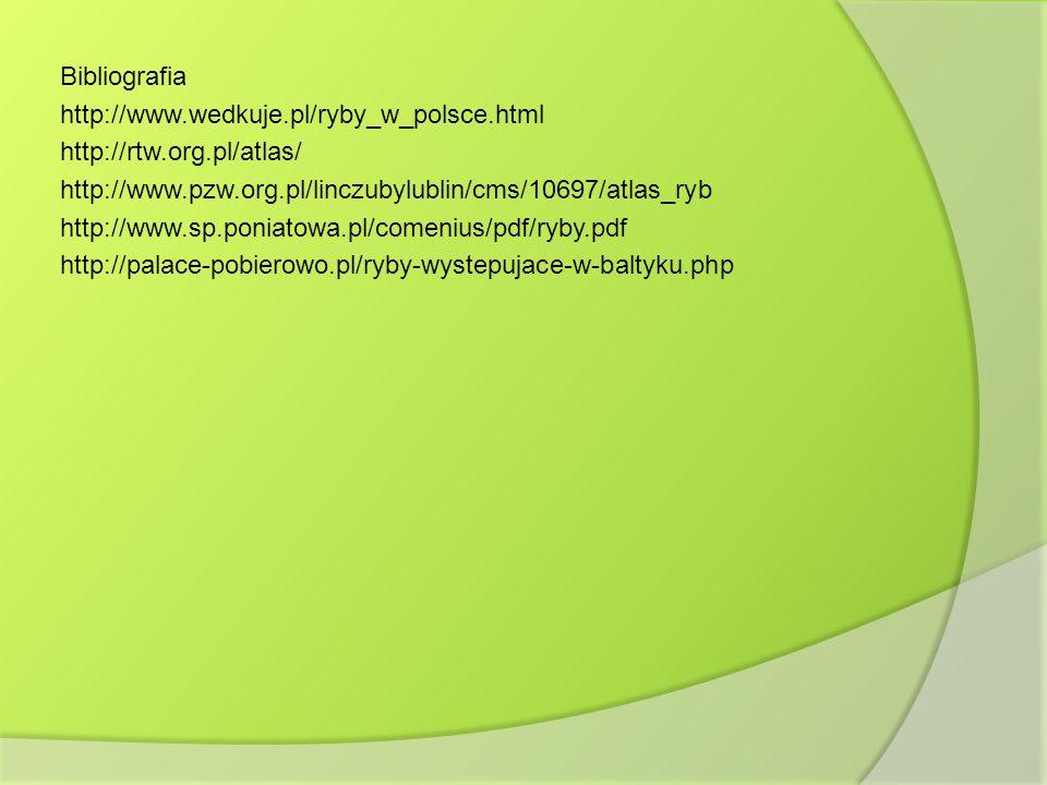 Bibliografia http://www. wedkuje. pl/ryby_w_polsce. html http://rtw