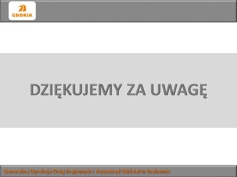 DZIĘKUJEMY ZA UWAGĘ Generalna Dyrekcja Dróg Krajowych i Autostrad Oddział w Krakowie