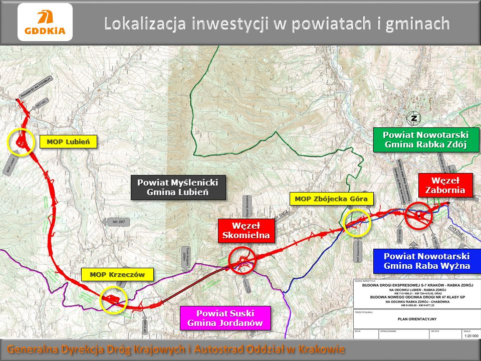Lokalizacja inwestycji w powiatach i gminach