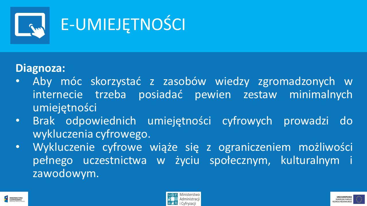 E-UMIEJĘTNOŚCI Diagnoza: