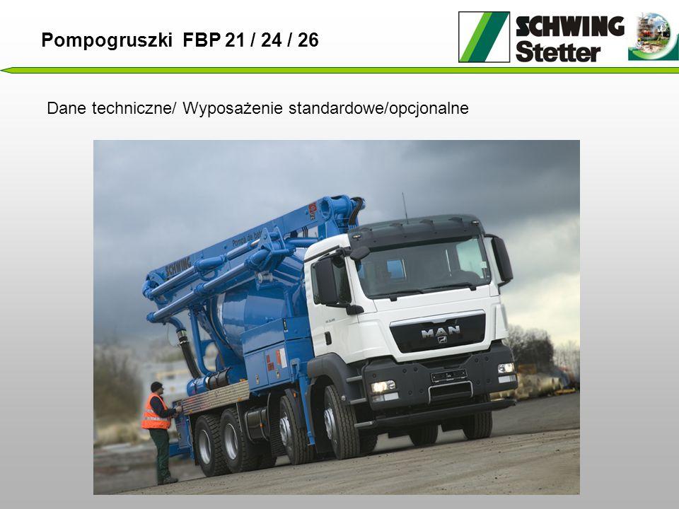 Pompogruszki FBP 21 / 24 / 26 Dane techniczne/ Wyposażenie standardowe/opcjonalne