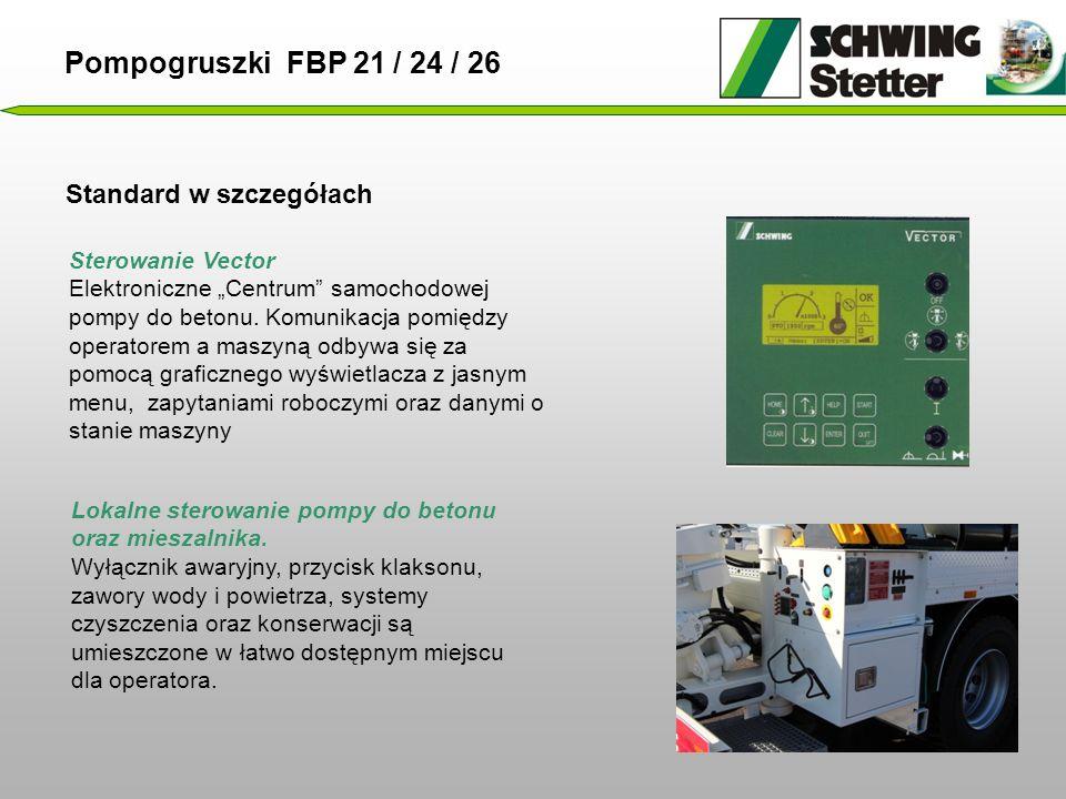 Pompogruszki FBP 21 / 24 / 26 Standard w szczegółach Sterowanie Vector