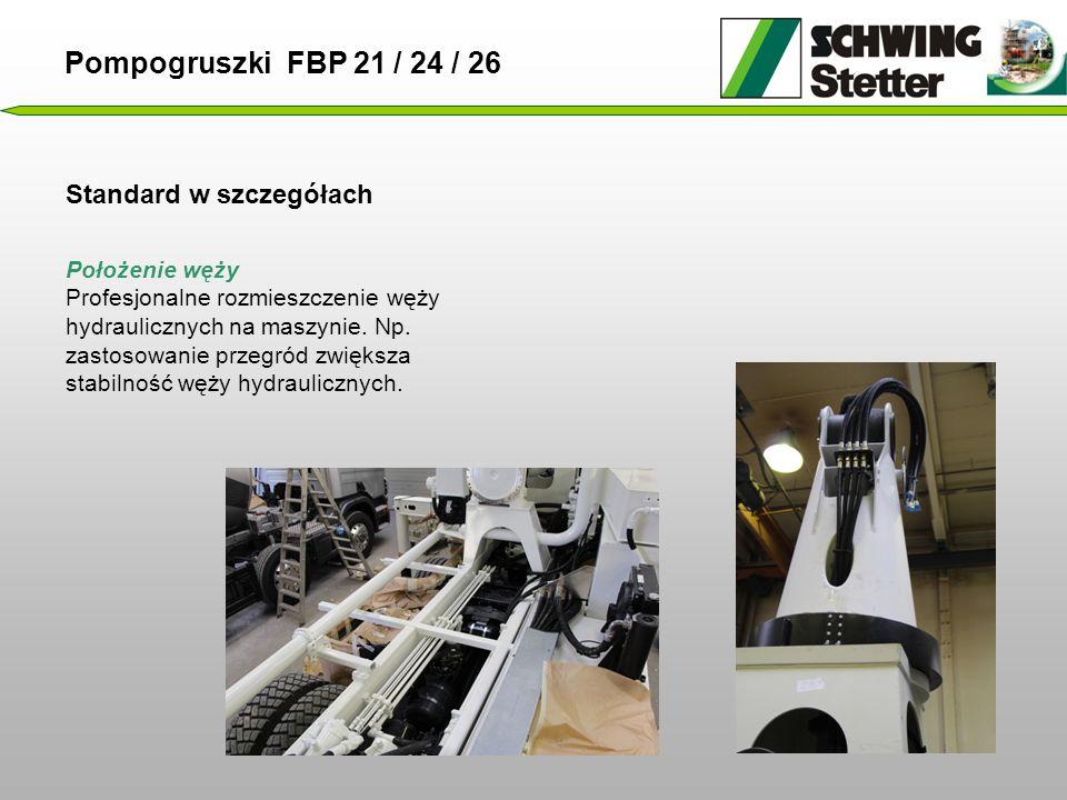 Pompogruszki FBP 21 / 24 / 26 Standard w szczegółach Położenie węży