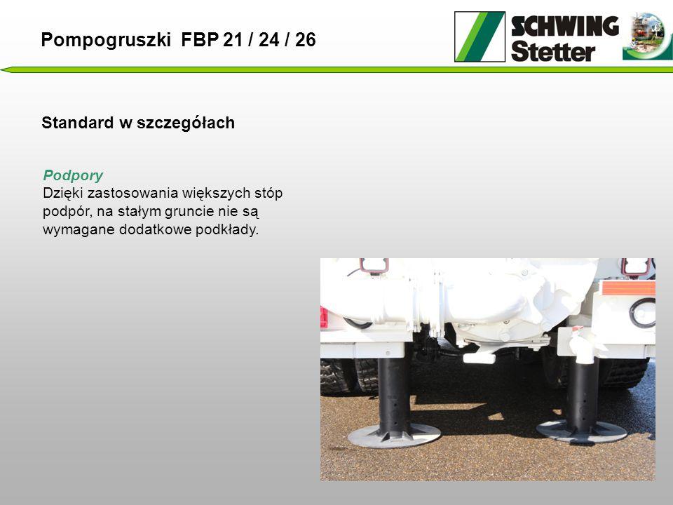 Pompogruszki FBP 21 / 24 / 26 Standard w szczegółach Podpory