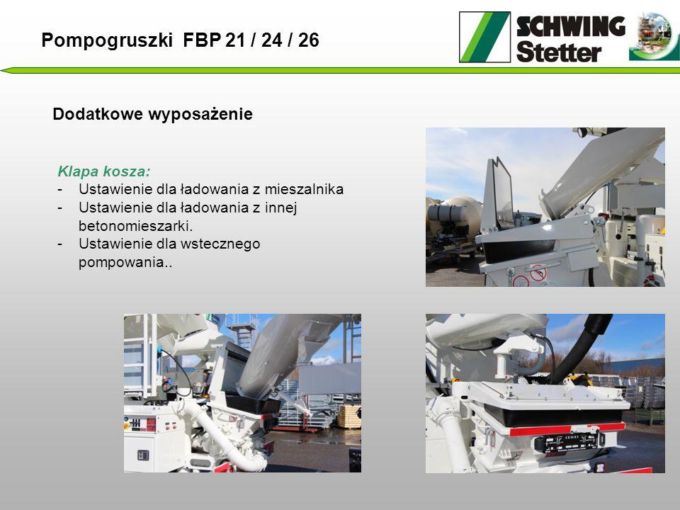 Pompogruszki FBP 21 / 24 / 26 Dodatkowe wyposażenie Klapa kosza: