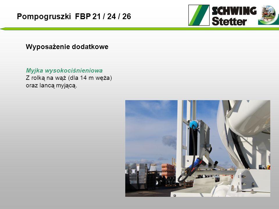 Pompogruszki FBP 21 / 24 / 26 Wyposażenie dodatkowe
