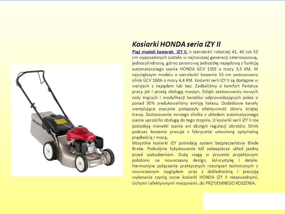 Kosiarki HONDA seria IZY II