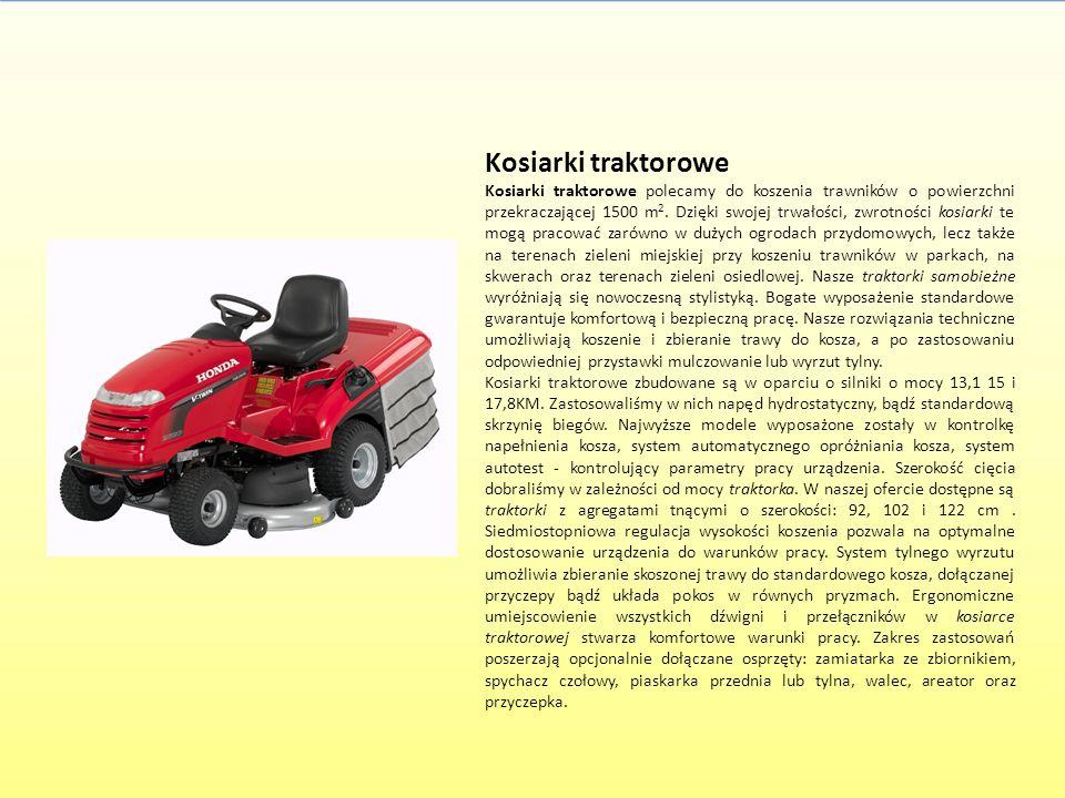 Kosiarki traktorowe