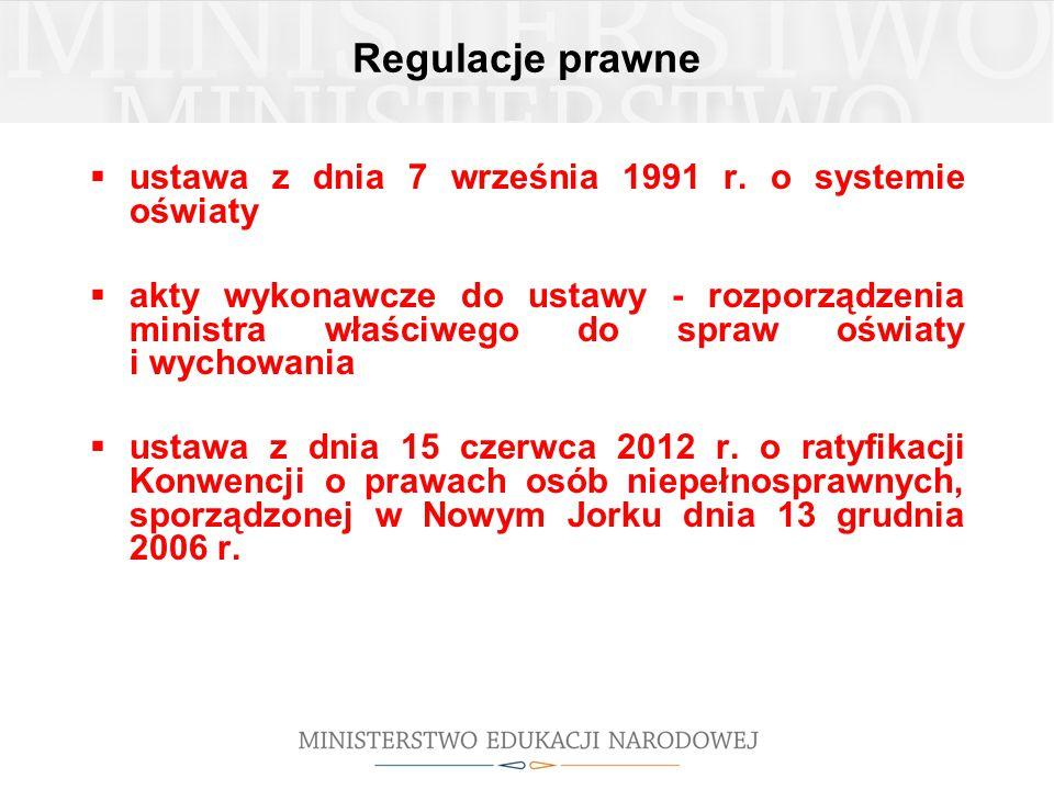 Regulacje prawne ustawa z dnia 7 września 1991 r. o systemie oświaty